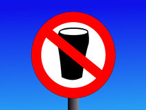 Nessun segno dell'alcool Immagini Stock