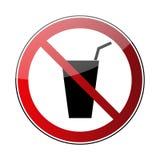 Nessun segno della bevanda Fotografia Stock