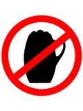 Nessun segno della birra con i beerglass Icona del segno di proibizione Immagine Stock