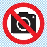 Nessun segno della macchina fotografica della foto Nessun segno di fotographia Immagini Stock