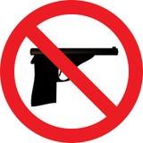 Nessun segno della pistola illustrazione di stock