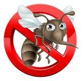 Nessun segno 2014 A3 della zanzara Immagini Stock Libere da Diritti
