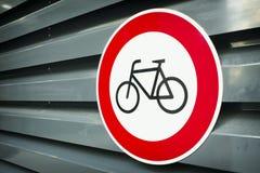 Nessun segno delle bici Fotografia Stock Libera da Diritti