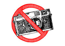 Nessun segno delle foto Fotografia Stock