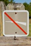 Nessun segno di caccia Fotografia Stock