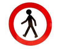Nessun segno di camminata Fotografia Stock Libera da Diritti