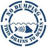 Nessun segno di dumping Fotografia Stock