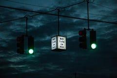 Nessun segno di giro Fotografie Stock