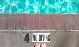Nessun segno di immersione subacquea Immagine Stock