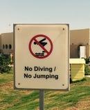 Nessun segno di immersione subacquea Immagini Stock Libere da Diritti