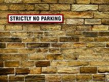 Nessun segno di parcheggio Immagine Stock