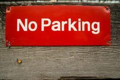 Nessun segno di parcheggio. Fotografia Stock