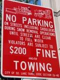 Nessun segno di parcheggio Immagine Stock Libera da Diritti