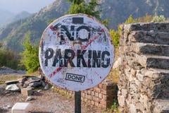 Nessun segno di parcheggio Fotografia Stock Libera da Diritti