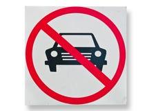 Nessun segno di parcheggio isolato Fotografia Stock Libera da Diritti