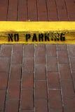 Nessun segno di parcheggio sul bordo nella celebrazione Florida Stati Uniti S.U.A. Immagini Stock Libere da Diritti