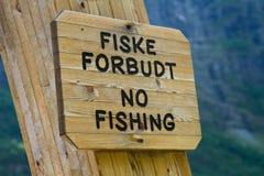 Nessun segno di pesca Immagine Stock Libera da Diritti
