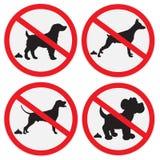 Nessun segno di poop del cane Immagine Stock