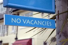 Nessun segno di posti vacanti Immagini Stock Libere da Diritti