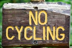 Nessun segno di riciclaggio Immagini Stock Libere da Diritti
