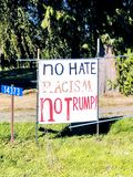 Nessun segno di Trump Fotografia Stock Libera da Diritti