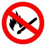 Nessun segno di vettore del fuoco della partita illustrazione vettoriale
