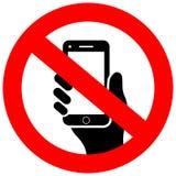 Nessun segno di vettore del telefono cellulare illustrazione vettoriale