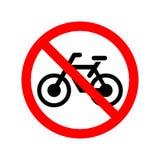 Nessun segno permesso bicicletta illustrazione di stock