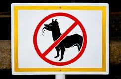 Nessun segno permesso cane Fotografia Stock Libera da Diritti