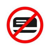 Nessun segno permesso carta Soltanto contanti illustrazione vettoriale