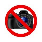 Nessun segno permesso macchina fotografica Fotografie Stock