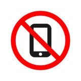 Nessun segno permesso telefono illustrazione di stock