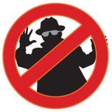 Nessun simbolo dello spyware Immagini Stock