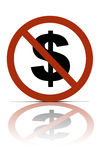 Nessun soldi Immagine Stock Libera da Diritti