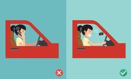 Nessun telefoni cellulari - mentre guidando royalty illustrazione gratis