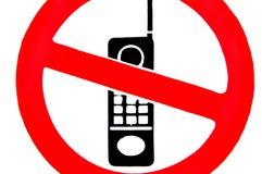 Nessun telefoni mobili. Immagini Stock