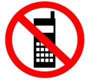 Nessun telefono delle cellule proibito severo non conceduto Fotografie Stock