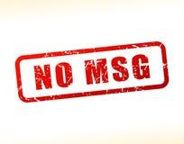 Nessun testo di msg attenuato Fotografia Stock Libera da Diritti