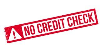 Nessun timbro di gomma del controllo di credito Immagini Stock Libere da Diritti