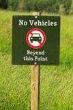 Nessun veicoli oltre questo segno del punto Immagine Stock Libera da Diritti