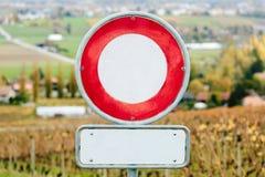 Nessun veicoli permessi Fotografie Stock Libere da Diritti