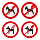 Nessun vettore del segno degli animali per il ristorante Illustrazione di Stock