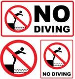Nessun vettore del segno di immersione subacquea illustrazione di stock