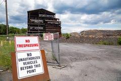 Nessun violare all'interruttore del carbone Fotografia Stock