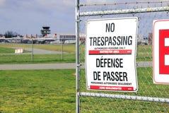 Nessun violare ed aeroporto Immagine Stock Libera da Diritti