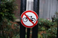 Nessuna bici Fotografia Stock