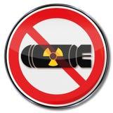 Nessuna bomba atomica Immagine Stock
