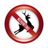 Nessuna caccia illustrazione vettoriale