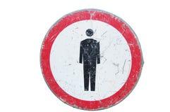 Nessuna camminata. Proibizione. Fotografie Stock Libere da Diritti