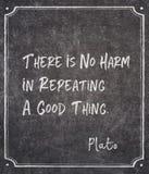 Nessuna citazione di Platone di danno immagini stock